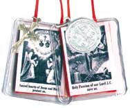 Red Scapular in Plastic Casing