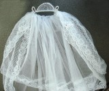 Crown of Pearls First Holy Communion Veil