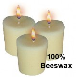 10 Hour Votive Candle - 100% Beeswax