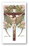Prayer Before a Crucifix Holy Card Laminated