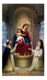 Mysteries of the Rosary Holy Card Laminated