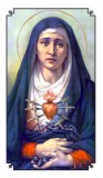 Sorrowful Mother Holy Card Laminated