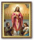 Christ Giving Communion 8x10 Framed Picture