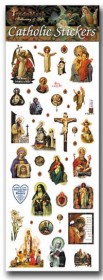 Sheet of 40 Assorted Religious Stickers