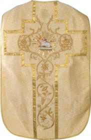 Gold Brocade Roman Fiddleback Chasuble
