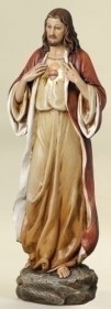 Sacred Heart of Jesus Statue - 13.75""