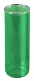 Green 7 Day Votive Glass