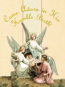 Come Adore in His Humble Birth - Christmas Greeting Card