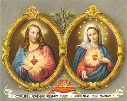 Sacred & Immaculate Heart 8x10 Picture