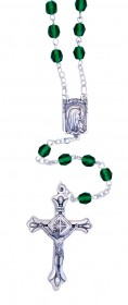 Emerald Green Crystal Rosary