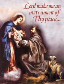 Lord make me an instrument of Thy peace... - Christmas Greeting Card