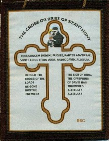 Cross or Brief of St. Anthony - Brown Scapular