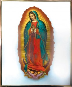 Our Lady of Guadalupe Gold Framed Plaque