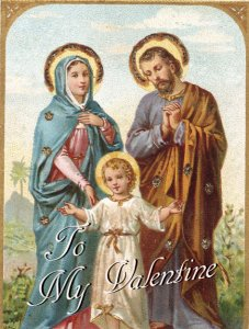 Full Size St. Valentine's Day Greeting Card for Married Couples
