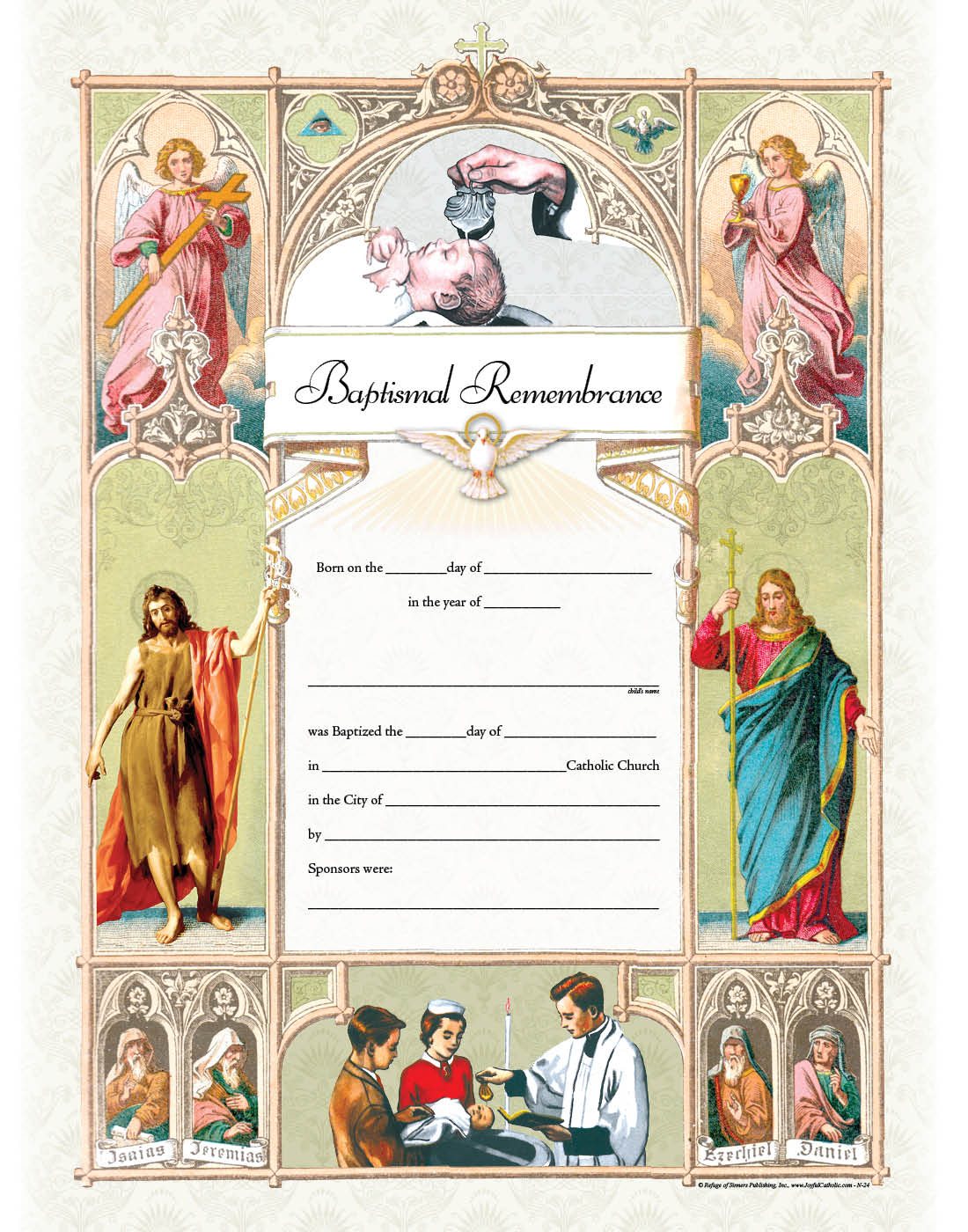 Baptismal Remembrance Certificate