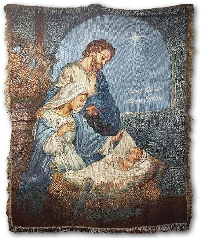 Come Let Us Adore Him - Nativity Throw