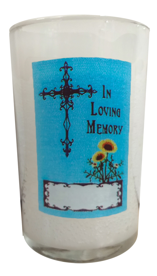 In Loving Memory - 24 Hour Prayer Candle in Glass
