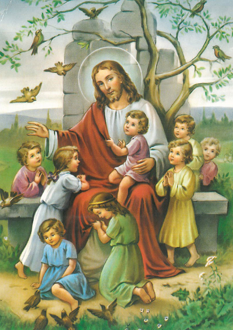 Jesus With Children Postcard Gt Closeouts