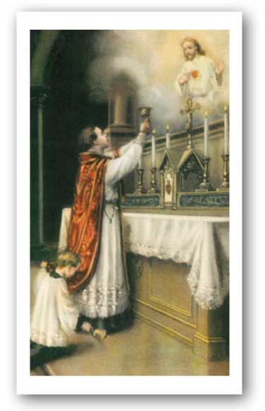 Eucharistic Prayers Holy Card