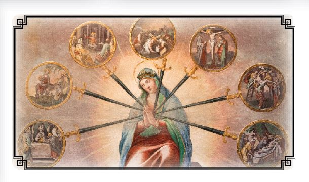 Novena in Honor of the Dolors of the Blessed Virgin - Laminated Cards