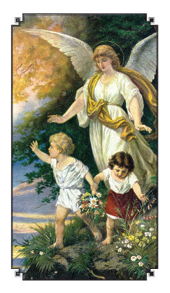 Guardian Angel With Children Holy Card Holy Cards