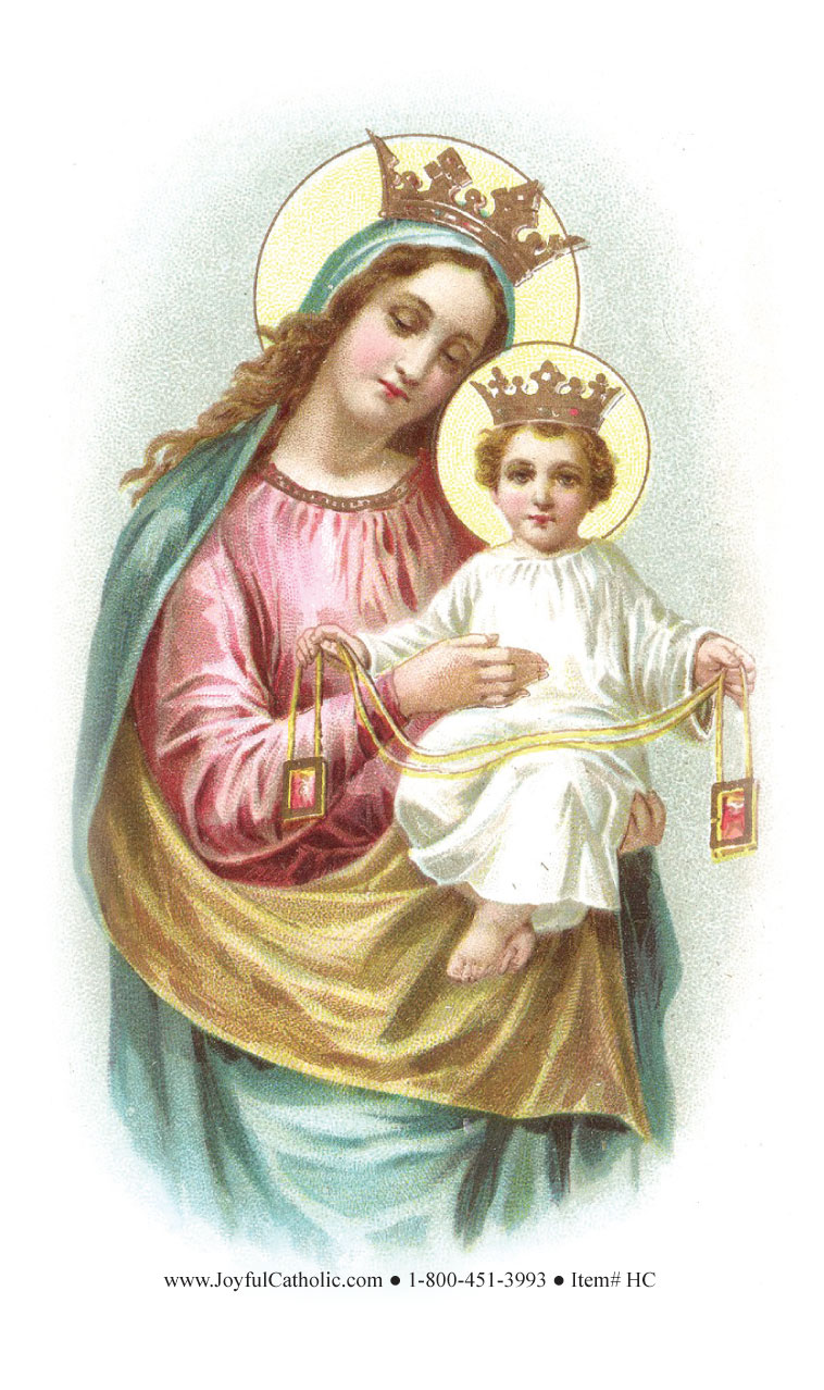 novena to our lady of mt carmel holy card holy cards