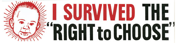 "I Survived the ""Right to Choose"" Bumper Sticker"