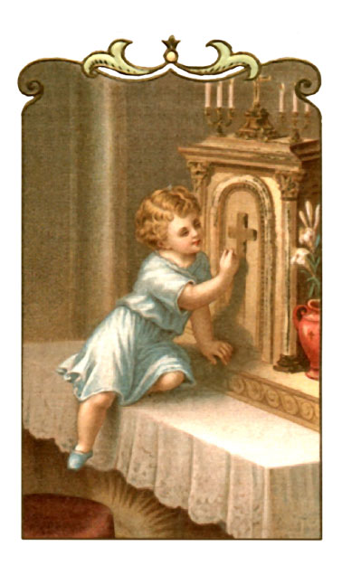 Spiritual Communion Holy Card with Prayer