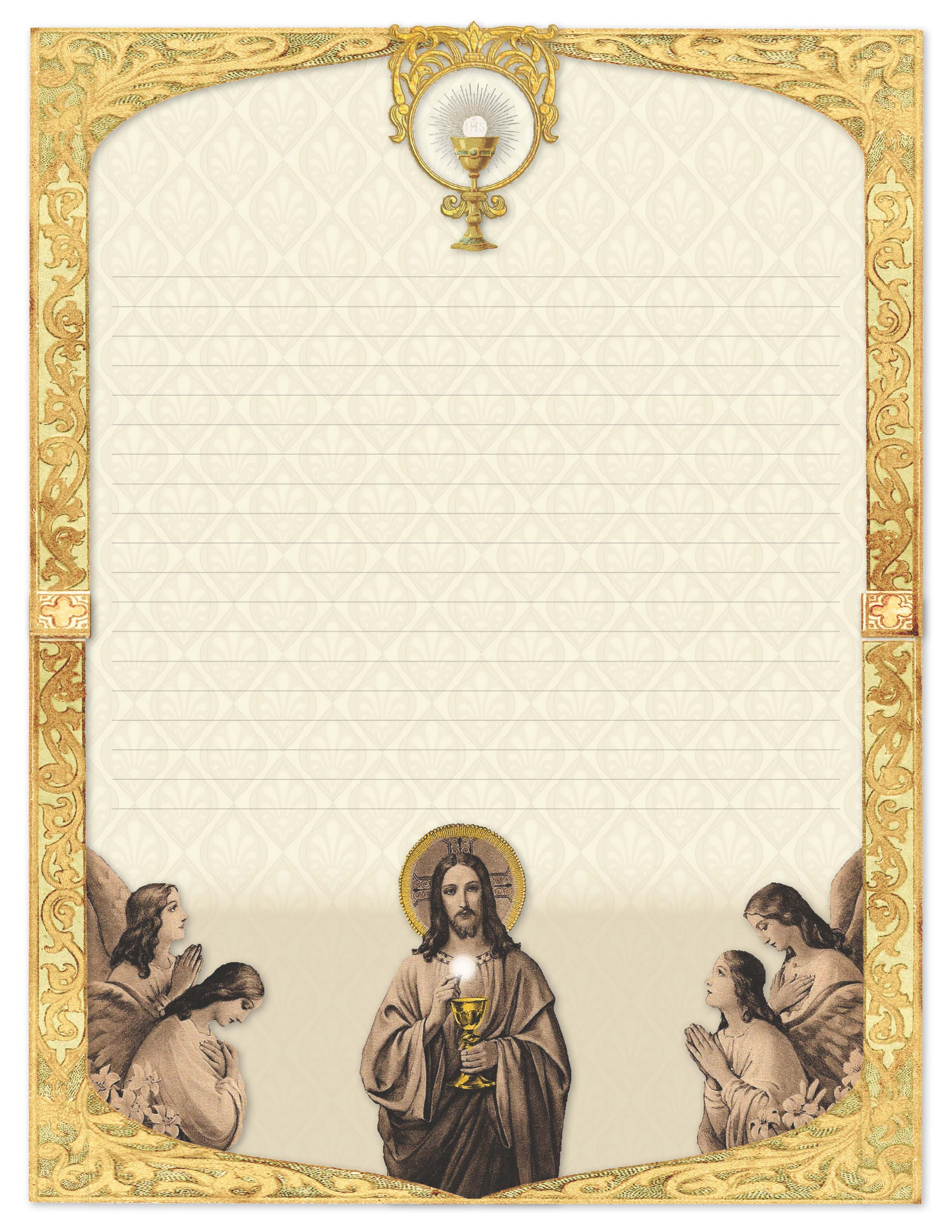 Christ Giving Communion - Stationery Set