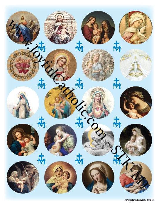 Assorted Marian Stickers