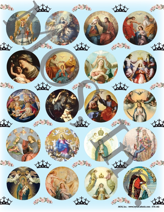 Assorted Coronation of Mary Stickers