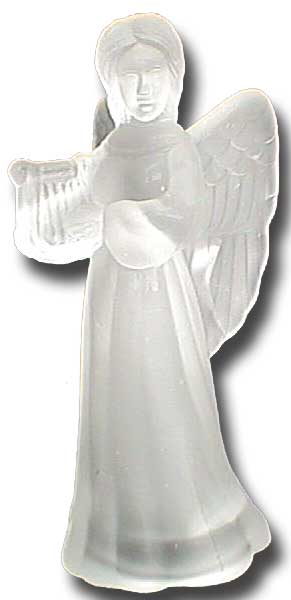 Angel Playing Harp Figure
