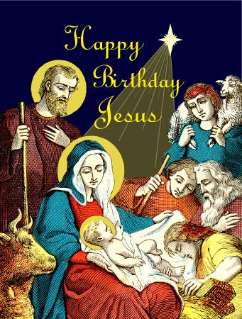 happy birthday jesus - Jesus Christmas Cards