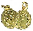 Miraculous Medal, Polished Brass
