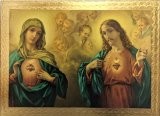Sacred and Immaculate Heart Florentine Plaque