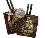 Leather Brown Scapular Brown or White Cord