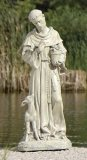 "St. Francis with Fawn 18"" Outdoor Statue"