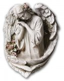 Large Hanging Adoring Angel Holy Water Font