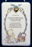 Baby Boy Poem Ceramic Hanging Plaque