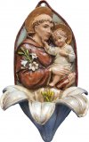 St. Anthony Lily Holy Water Font