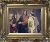 Christ and the Rich Young Ruler Ornate Framed Picture
