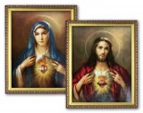 Sacred Heart of Jesus or Immaculate Heart of Jesus Framed Print