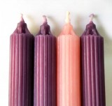 "Hollow Core Advent Candles - 7/8"" x 12"" - 100% Beeswax"