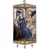 Nativity/Adoration of the Christ Child after Gentile da Fabriano Tapestry Banner