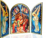 Nativity of Christ Triptych Christmas Icon