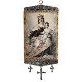 Our Lady of Mt. Carmel Tapestry Banner w/ Crosses
