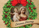 Christmas Wreath - Personalizable Christmas Greeting Card