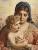 Madonna and Child - Blank Inside Greeting Card
