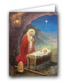 Kneeling St. Nicholas Christmas Greeting Card