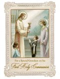 For a Special Grandson on his First Holy Communion - Greeting Card
